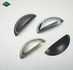 Manufacturers supply zinc alloy shell handle, American style retro drawer, cabinet handle, shell half round button