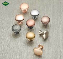 Mushroom solid zinc alloy round single hole small handle modern simple cabinet drawer wardrobe door handle
