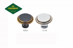 Manufacturer direct sales Aluminum Alloy modern style single hole button handle small button mushroom head Chinese round head drawer handle manufactur