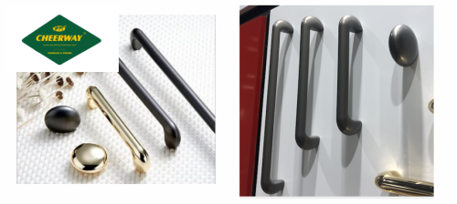Factory direct sales new type handle zinc alloy oval square handle black cabinet drawer handle wholesale