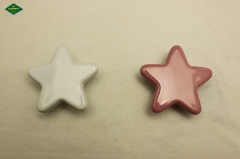 Star shaped ceramic knob, high quality hardware decoration knob.